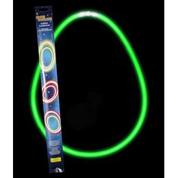 Világító Nyaklánc, Zöld 2 x 27,5 cm-es