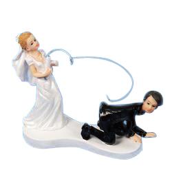 Vőlegényt Pecázó Menyasszony Tortadísz