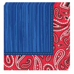 Bandana & Blue Jeans Parti Szalvéta - 33 cm x 33 cm, 16 db-os