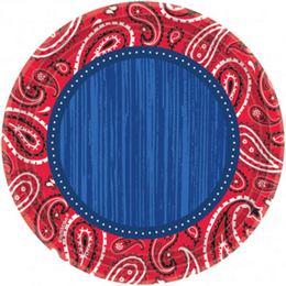 Bandana & Blue Jeans Parti Tányér - 18 cm, 8 db-os