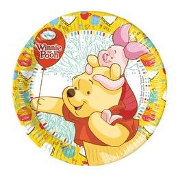 Winnie Sweet Tweets - Micimackó Parti Tányér - 23 cm, 8 db-os