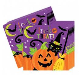 Witches' Crew Parti Szalvéta Halloween-ra - 33 cm x 33 cm, 16 db-os