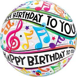 22 inch-es Happy Bday to You Music Szülinapi Bubble Lufi