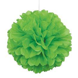 Zöld Bolyhos Függő Dekoráció - 41 cm