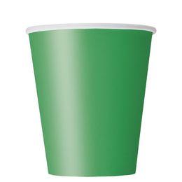 Emerald Green Papír Parti Pohár - 270 ml, 8 db-os