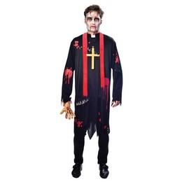 Zombi Plébános Jelmez Halloween-re, M-es