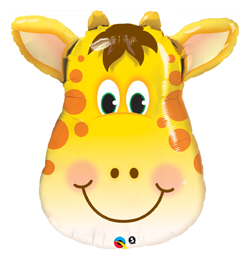 14 inch-es Jolly Giraffe - Zsiráf Fej Fólia Lufi (5 db/csomag)
